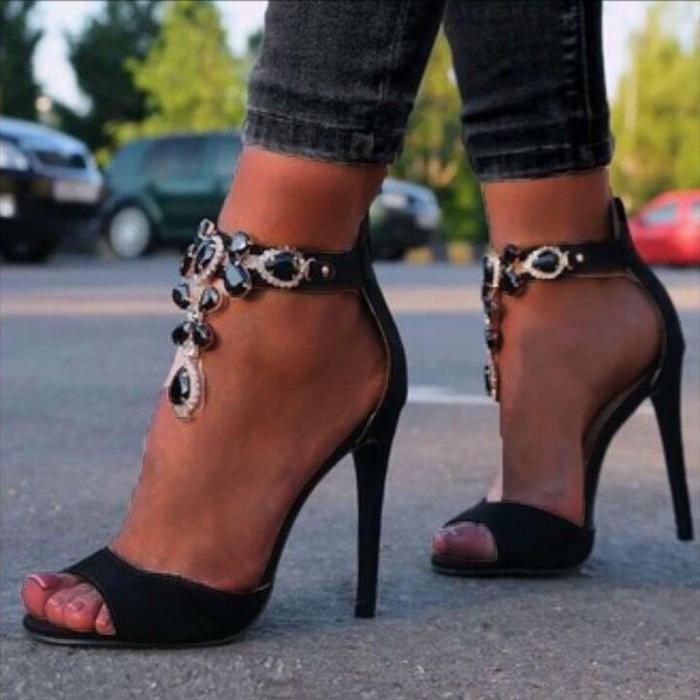 Thin High Heels Sandals Fashion Women Gladiator Sexy Pompes