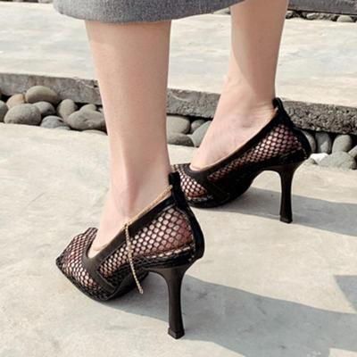 Daily Mesh High Heel Summer Heels