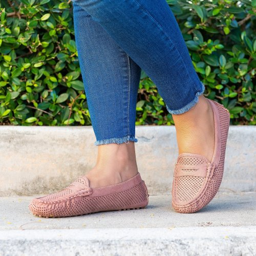 Perforated Loafers Flats