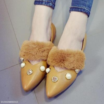 Plain  Flat  Point Toe  Date Outdoor Flat & Loafers