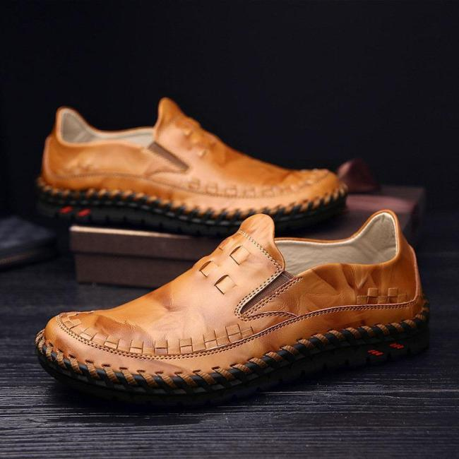 Mens Slip-on Loafers Driving Shoes British Style Casual Shoes