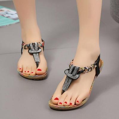 Bohemian  Flat  Peep Toe  Casual Flat Sandals