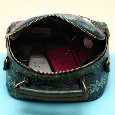 Women Bohemian Forest Series Crossbody Bag Flower Printed Handbag