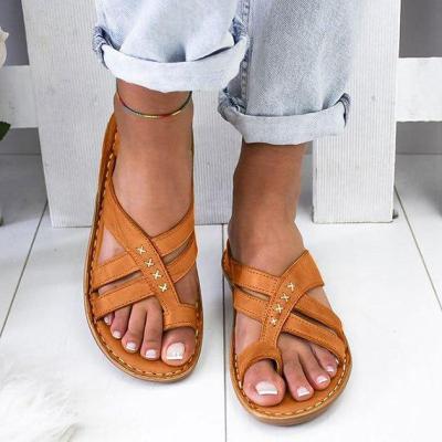 Summer Sandals For Women Beach Shoes Low Heels Wedges Shoes Women Flip Flops Gladiator Flat
