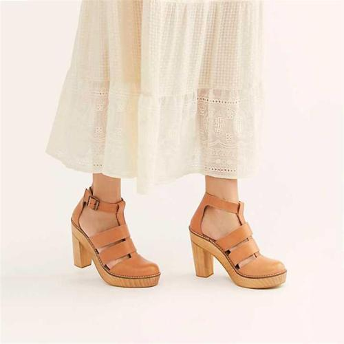 High Heel Platform Buckle Sandals