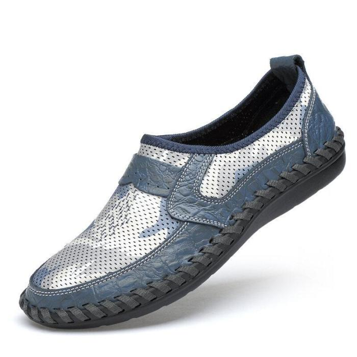 Mens Breathable Hollow Out Casual Flat Shoes