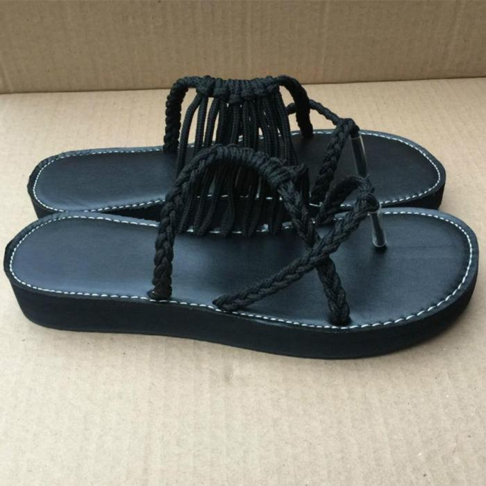 Color Block Plain Flat Peep Toe Casual Slippers