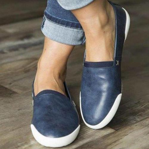 Comfy Pu Slip-On Flats Shoes