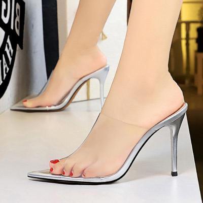 Summer Stiletto Heel Daily Peep Toe Slippers