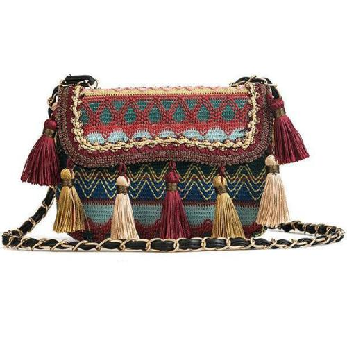 Tassel Bohemian Shoulder Bag Crossbody Bag