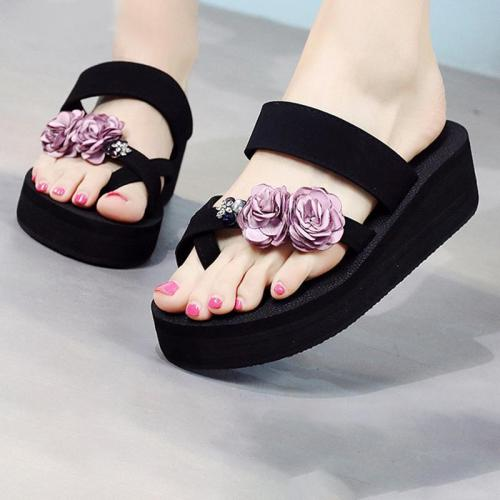 Summer Beach Casual Flower Flip-flops Sandals