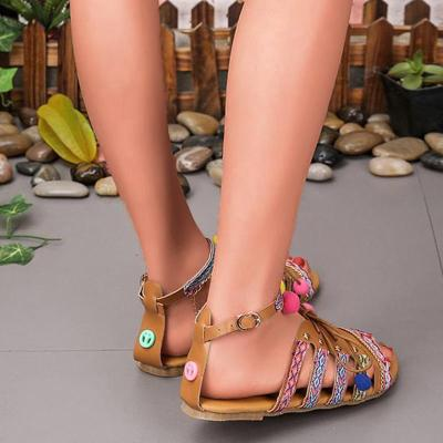Summer Buckle Flat Bohemia Beach Sandals