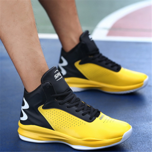 Men's wear-resistant shock-absorbing basketball shoes