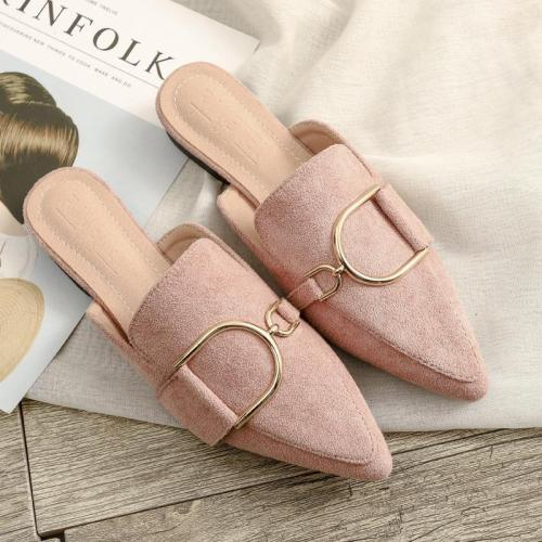 Spring 2020 New Pointed Cool Slipper Female Flat Outside Wear Casual Muller Shoes