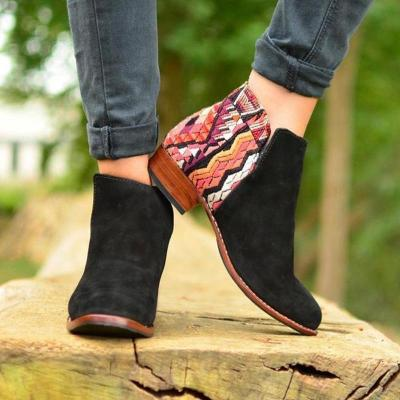 Huipil Suede Chic Boho Ankle Booties