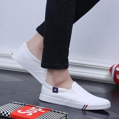 Mens Large Size Casual Slip On Canvas Loafers