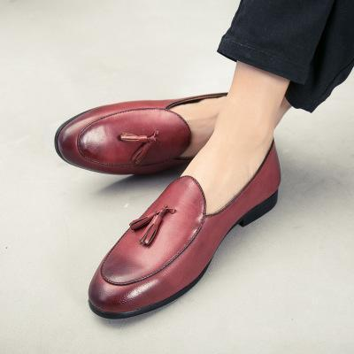 Unisex Large Size Leather Tassels Flat Heel Non-slip Oxford Shoes