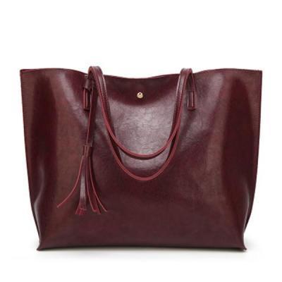 Oil Wax Classic Tote Bag Large Capacity Handbag Casual