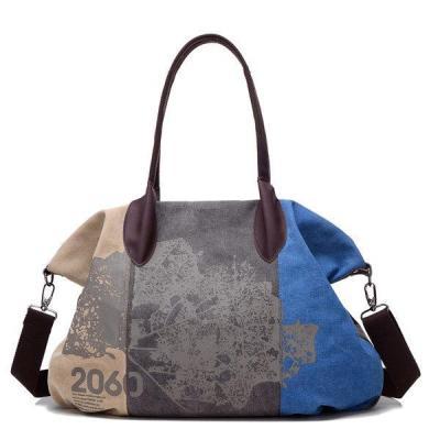Pattern Casual Canvas Handbag Bucket Crossbody Bag