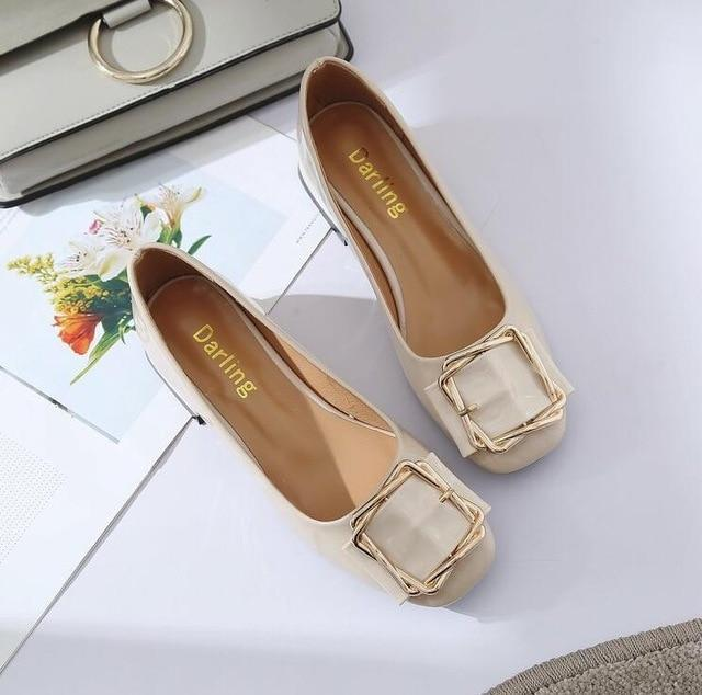 Solid PU leather Woman Shoes Slip On casual shallow Women shoes