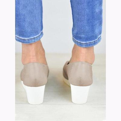 Women Breathable Wedge Flats