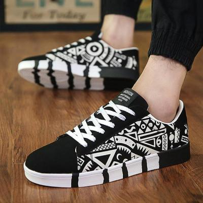Men's Fashion Canvas Printed Flat Shoes