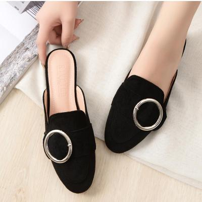 2020 Spring and Autumn Round Head Flat Heel Cool Slippers for Women Wearing Muller