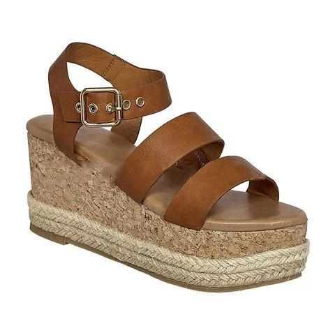 Summer Wedge Heel Open Toe Buckle Strap Sandals