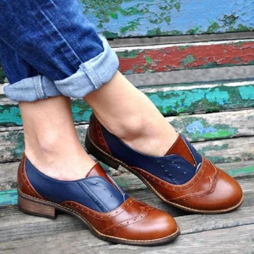 Plain  Flat  Round Toe  Date Outdoor Flat & Loafers