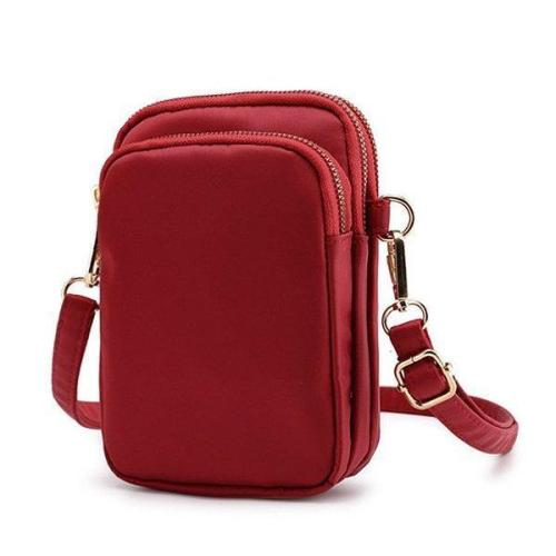 Nylon Waterproof Phone Bag Waist Purse Crossbody Bag