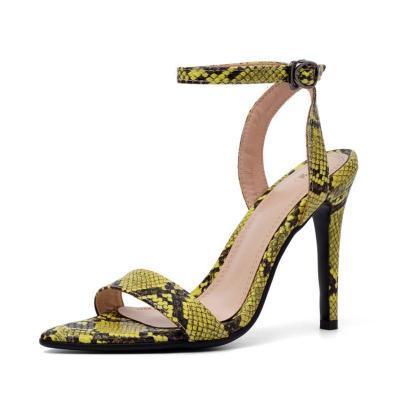 Snakeskin Pattern Date High Heel Party & Evening Sandals