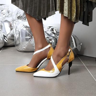 New Women's Fashion High Heels Sandals In Spring 2020 Women's Pointy Sexy Hollow Women's Sandals
