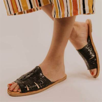 Fashion Vintage   Woven Flat Slippers