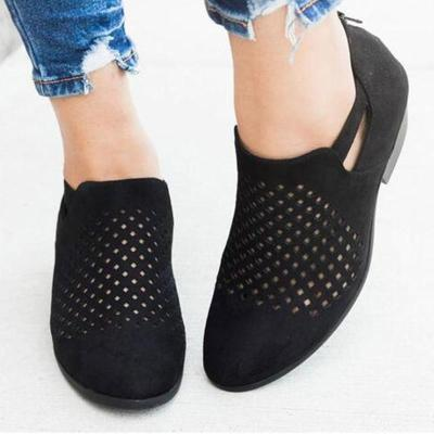 Breathable Plus Size Vintage Mesh Hole Loafers