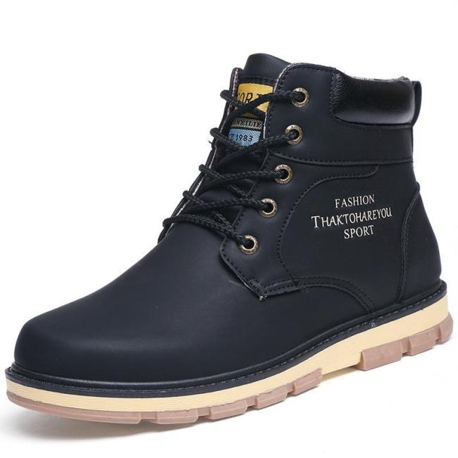 Pu Leather Wear Resisting Casual Fashion Men Men Boots