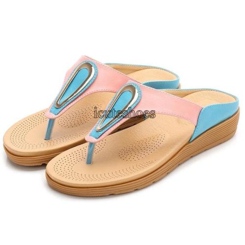 2020 Shoes Women Block Sandals Bohemian Women's Shoes Women's Flat Shoes Slippers
