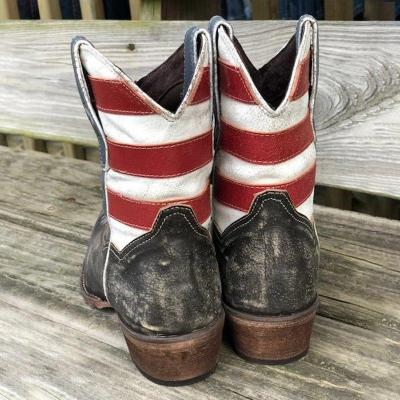 WOMEN'S BEAUTY  FLAG SHORTIE BOOTS