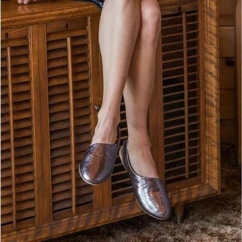 Women Closed Back Slip-on Flat Heel Shoes