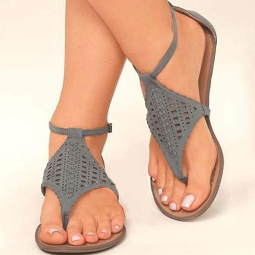 Summer Flip-Flop Hollow Flat Interlacing Women Sandals