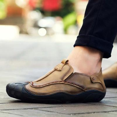 Mens Outdoor Slip-on Flats Hand Stitching Loafers