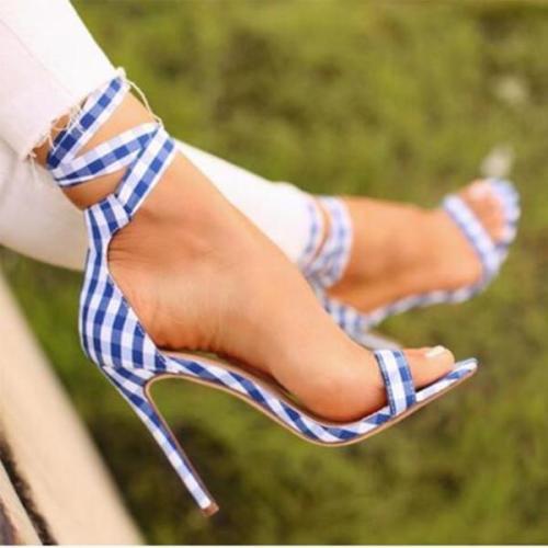 Stiletto High Heeled Peep Toe Date Dress Sandals