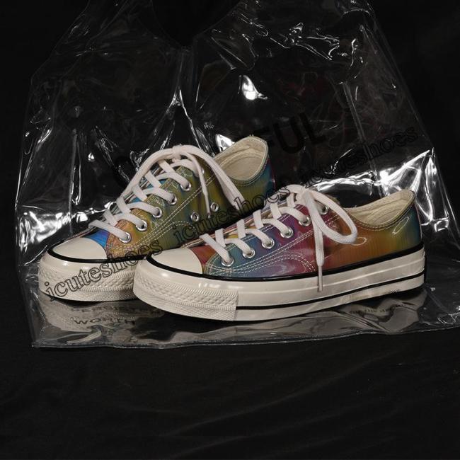 Seven Color Gradual Change Canvas Shoes for Female New Shoes Shoes