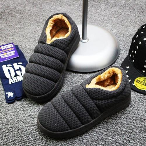 Winter Non-slip Caterpillar Cotton Plush Home Slippers