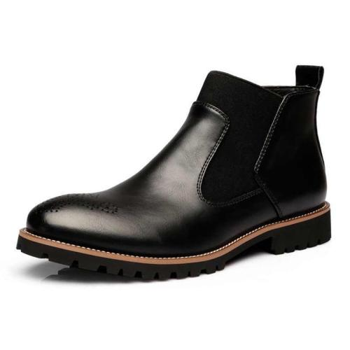 British Style Fashion Soft Leather Ankle Men Boots