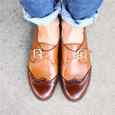 Bicolor Fashionable Oxford Shoes