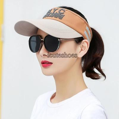 Hat Women's Summer Baseball Embroidery Slicing Korean Version Sun Shade Empty Top Hat Outdoor Casual