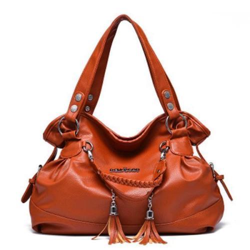 Elegant Tassel Pendant Handbag Ladies Casual Shopping Shoulder Bag