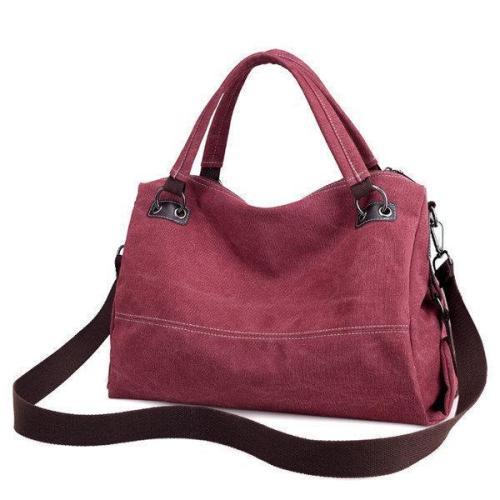 KVKY Casual Canvas Tote Handbag Vintage Shoulder Bag