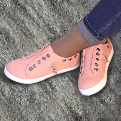 Women's Simple Style Lace-Up All Season Plus Size Sneakers