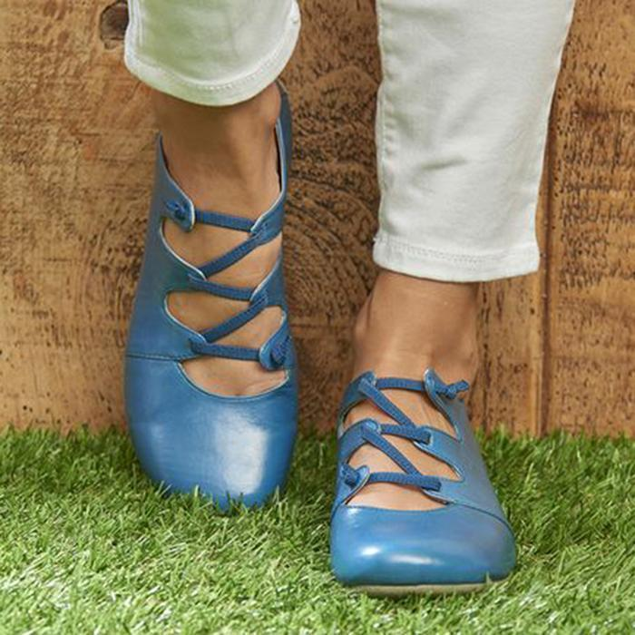 Women Casual Daily Lace-up Summer Flats